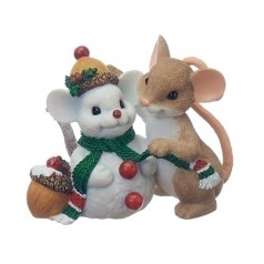 Mouse with Snowman - $26.99