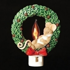Mouse in Wreath - $22.99