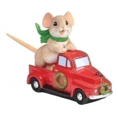 Mouse in Red Truck - $26.00