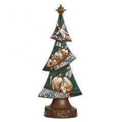 Nativity Green Tree Carving - $56.99
