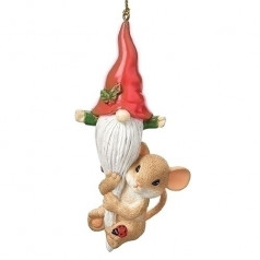Mouse with Gnome Ornament - $21.99