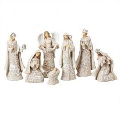 7 Piece Nativity with Angel - $69.99
