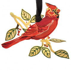 Solid Brass Cardinal in Nature - $19.99