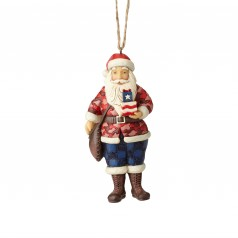 Patriotic Santa Ornament - $24.99