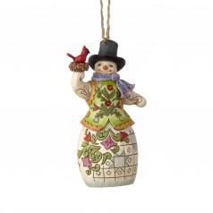 Snowman with Cardinal Ornament - $24.99
