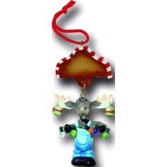 Moose with Ornaments - $10.99-SOLD OUT