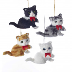 C4820 Furry Sitting Cat - $10.99