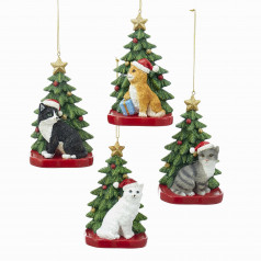 C7609 Cat w/Xmas Tree - $9.99 each