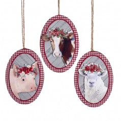 Wooden Oval Farm Animal - $6.99 each