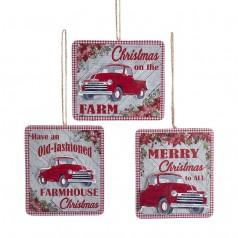 Farmhouse Red Truck - $5.99 each