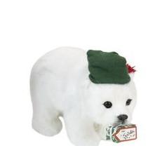 Polar Bear, green hat - $26.00
