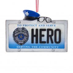 Police Hero License Plate  - $7.99