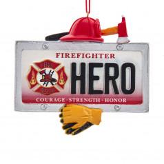 Firefighter Hero License Plate - $7.99