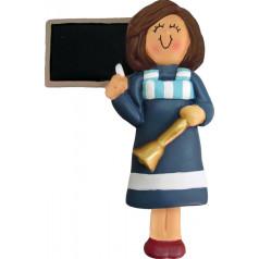Brunette Blue Female Teacher - $11.99