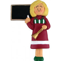 Blonde Red Female Teacher - $11.99