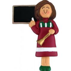 Brunette Red Female Teacher - $11.99