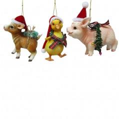 Farm Animals w/Santa Hat - $9.99 each
